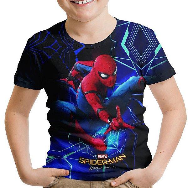 Camiseta Infantil Homem Aranha Homecoming Md02