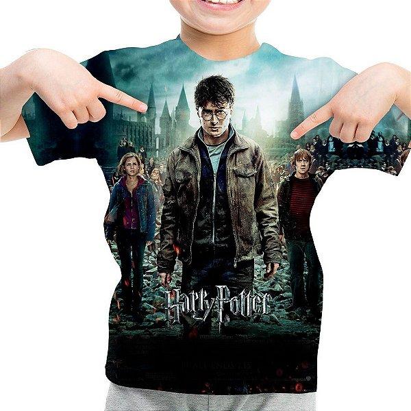 Camiseta Infantil Harry Potter Estampa Total Md03
