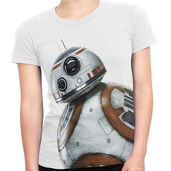 Baby look Feminina BB8 Star Wars Estampa Total