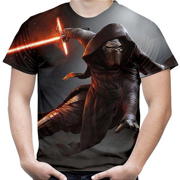 Camiseta Masculina Kylo Ren Star Wars Estampa Total Md04