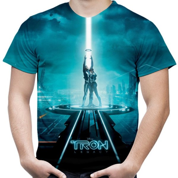 Camiseta Masculina Tron Estampa Total Md01