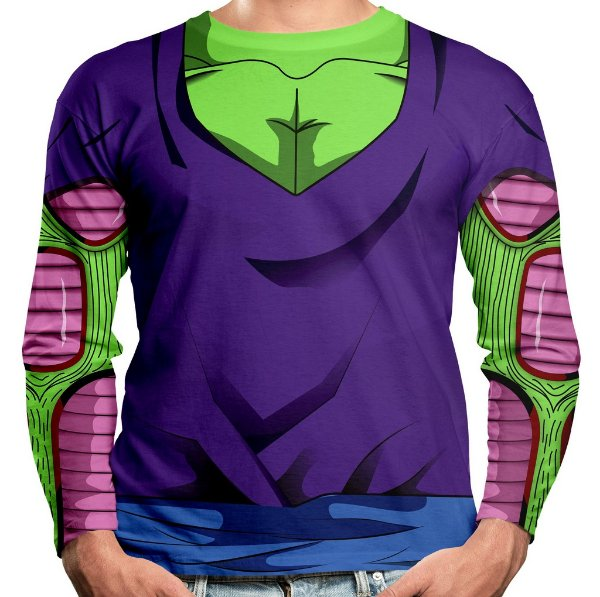 Camiseta Piccolo Dragon Ball Manga Longa Unissex Traje
