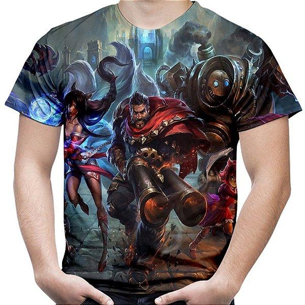 Camiseta Masculina League of Legends Estampa Total Md01