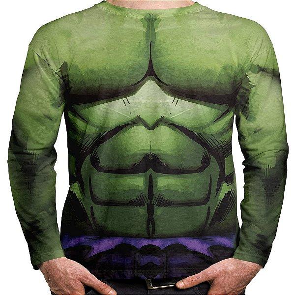 Camiseta Hulk Manga Longa Unissex Traje