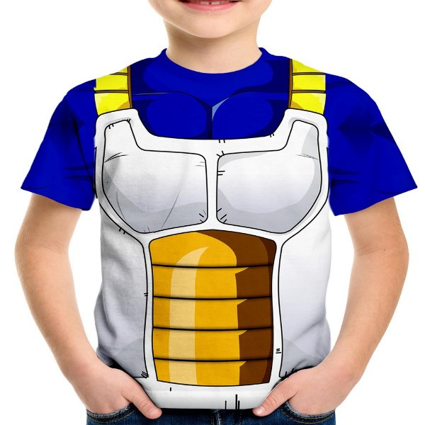 Camiseta Infantil Traje Vegeta Estampa Total