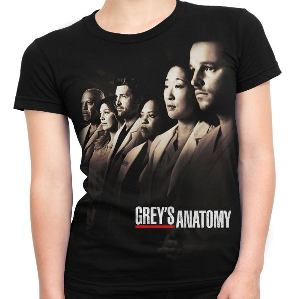Camiseta Baby Look Feminina Grey's Anatomy
