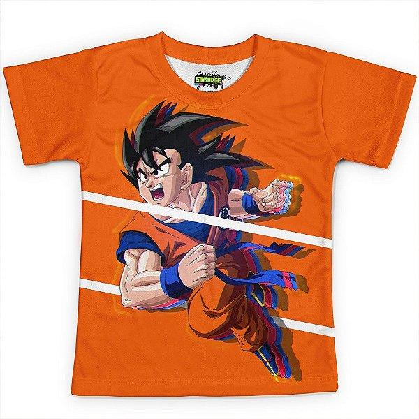 Camiseta Infantil Goku Dragon Ball Super MD06