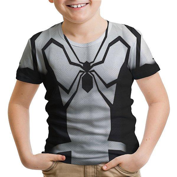 Camiseta Infantil Homem Aranha Traje Estampa Total Md03