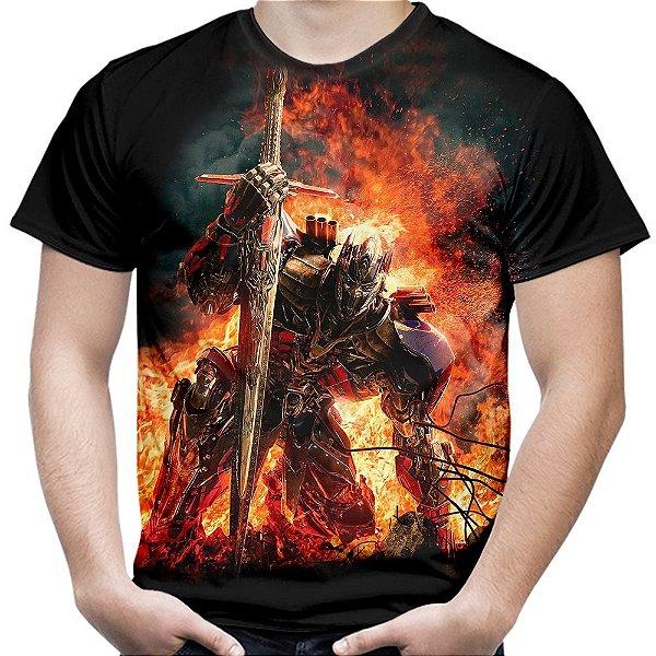 Camiseta Masculina Transformers Autobots Estampa Digital