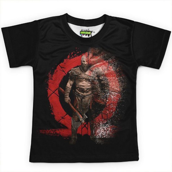 Camiseta Infantil Jogo God of War Md02