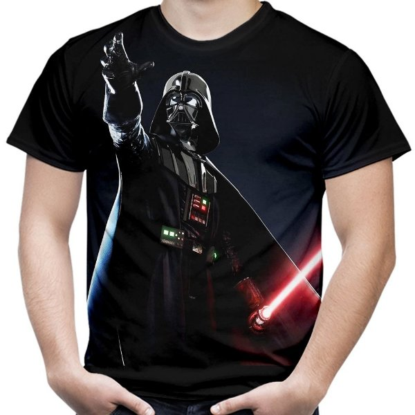 Camiseta Masculina Darth Vader Star Wars Estampa Total Md02