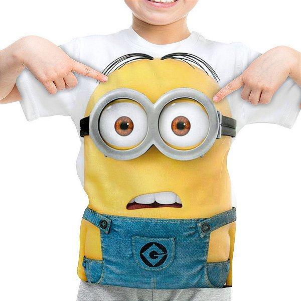 Camiseta Infantil Minions Estampa Digital Md01