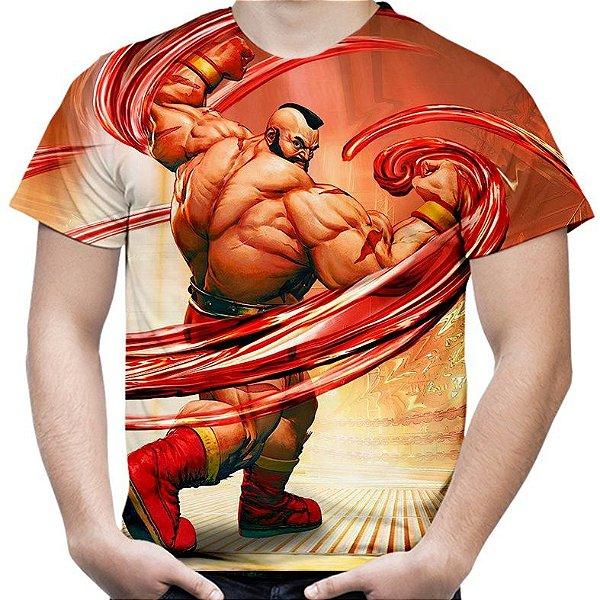 Camiseta Masculina Zangief Street Fighter Estampa Total