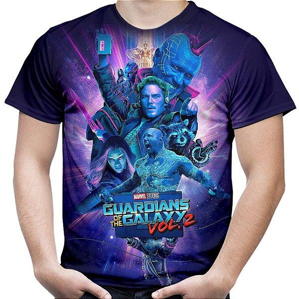 Camiseta Masculina Guardiões Da Galáxia Vol2 Total Print Md5
