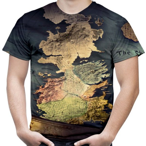 Camiseta Masculina Westeros Game Of Thrones Estampa Total