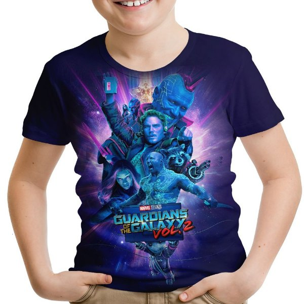 Camiseta Infantil Guardiões Da Galáxia Vol2 Md5
