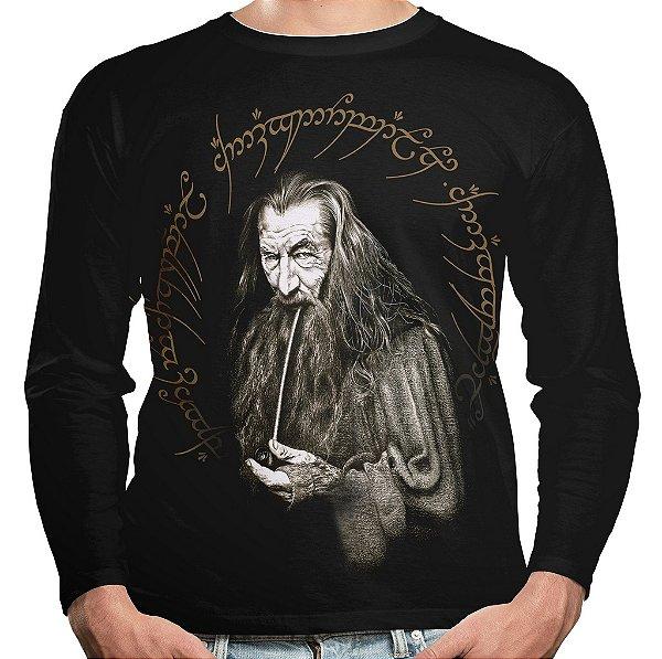 Camiseta Gandalf Senhor dos Anéis Manga Longa Unissex