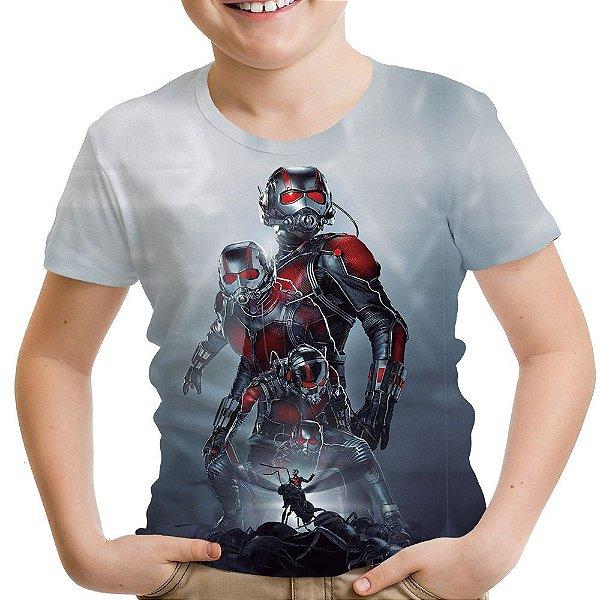 Camiseta Infantil Homem Formiga Estampa Total Md02