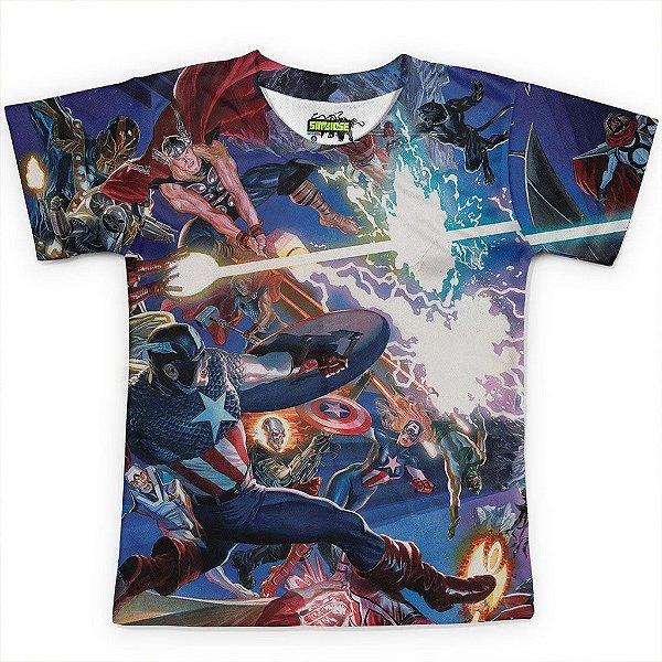 Camiseta Infantil Avangers Vingadores MD04