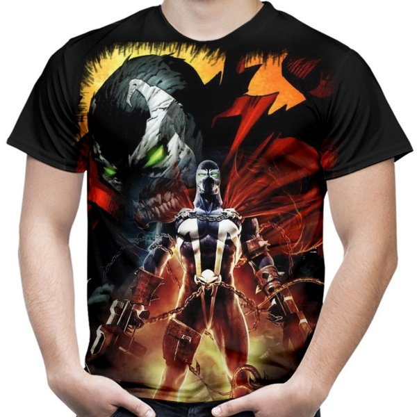 Camiseta Masculina Spawn Estampa Total MD02