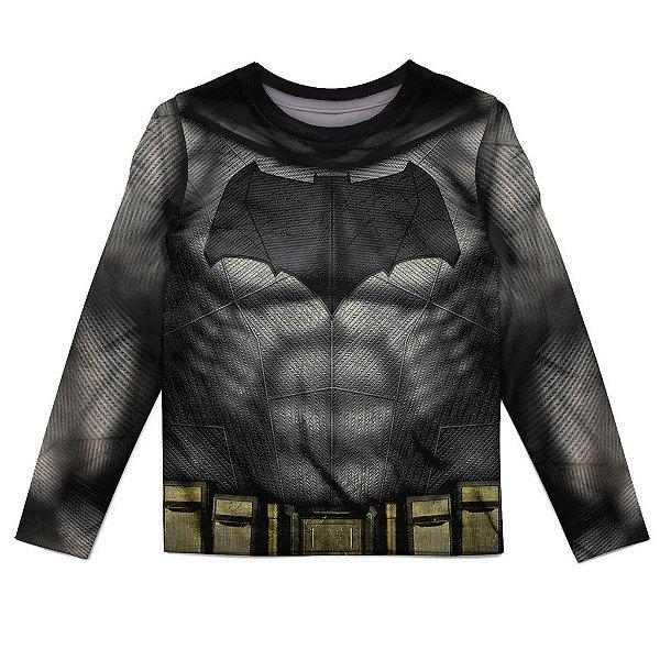 Camiseta Infantil Manga Longa Batman