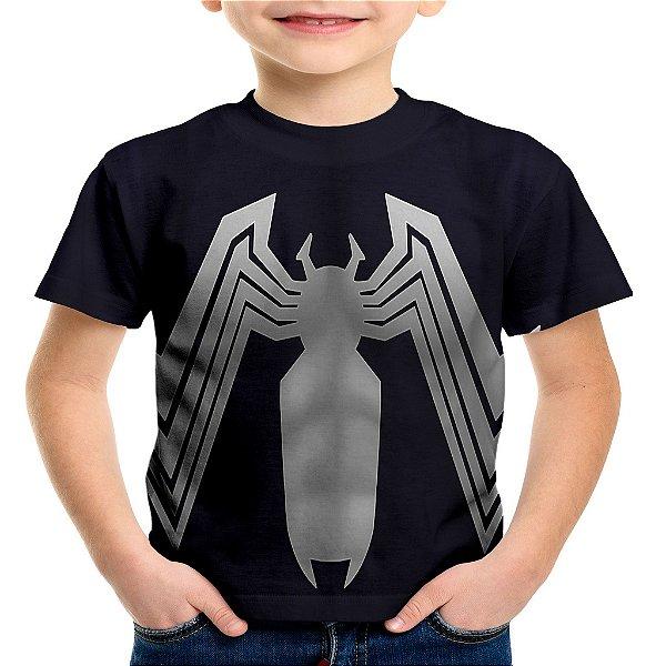 Camiseta Infantil Homem Aranha Traje Estampa Total Md04