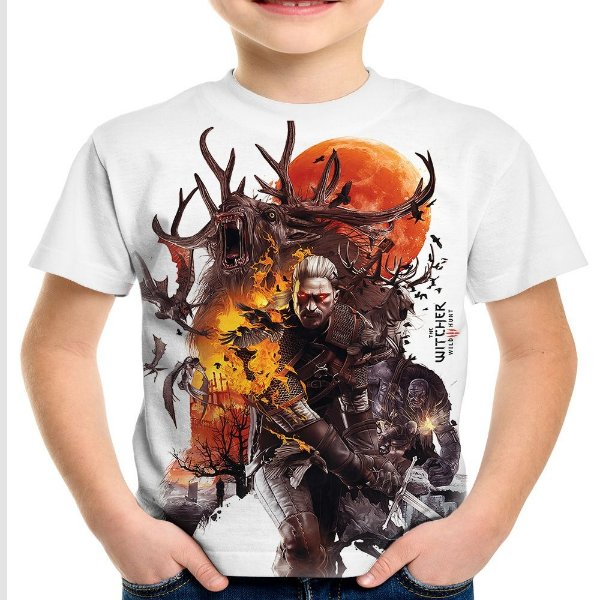 Camiseta Infantil The Witcher 3
