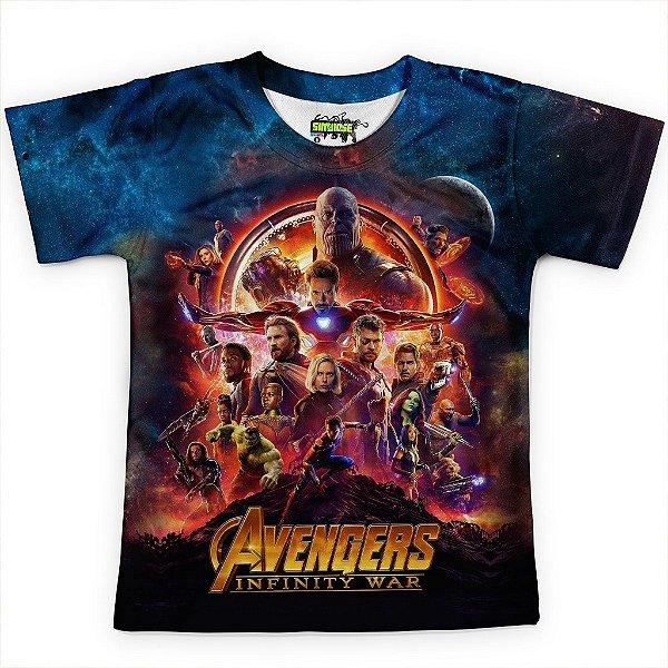 Camiseta Infantil Guerra Infinita Avangers MD2