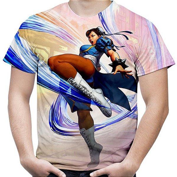 Camiseta Masculina Chun-Li Street Fighter Estampa Total