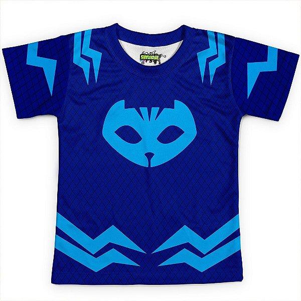 Camiseta Infantil Menino Gato PJ Masks