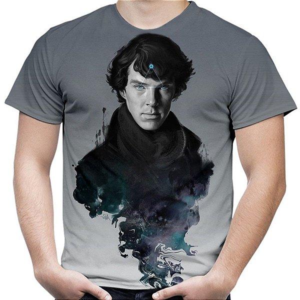 Camiseta Masculina Sherlock Estampa Total Md01