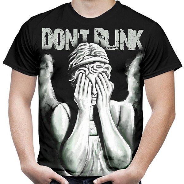 Camiseta Masculina Don't Blink Doctor Who Estampa Total Md01