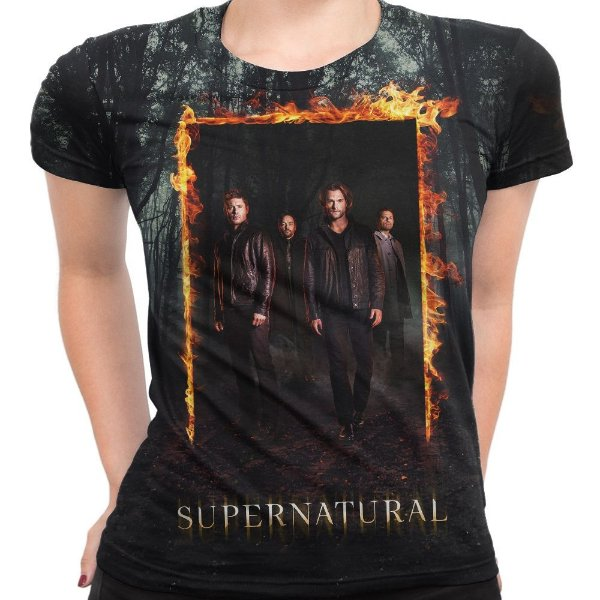 Camiseta Baby Look Serie Supernatural Sobrenatural Md05