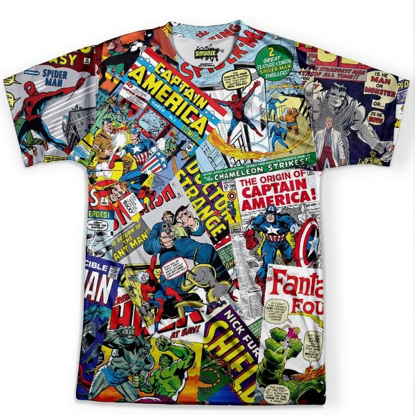 Camiseta Masculina Quadrinhos Marvel