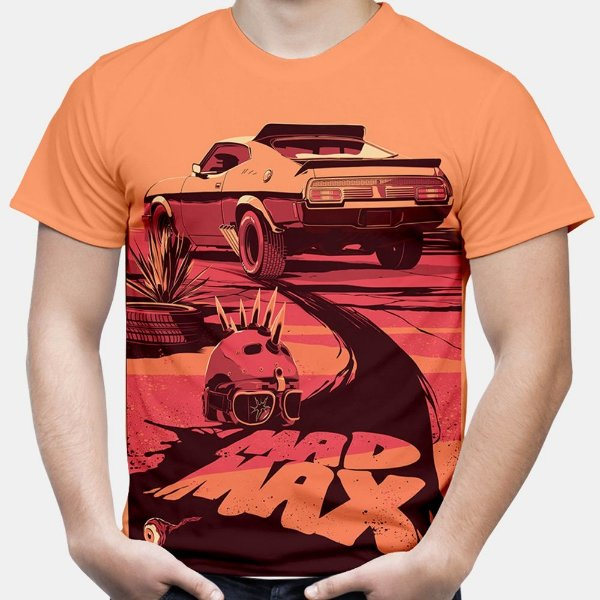 Camiseta Masculina Mad Max Estampa Total Md01
