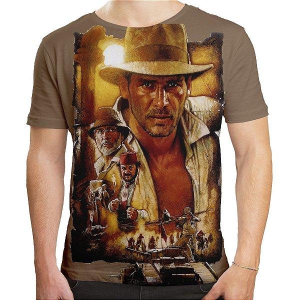Camiseta Masculina Indiana Jones