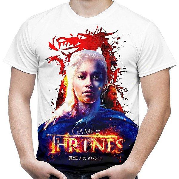 Camiseta Masculina Game of Thrones Daenerys Targaryen Estampa Total