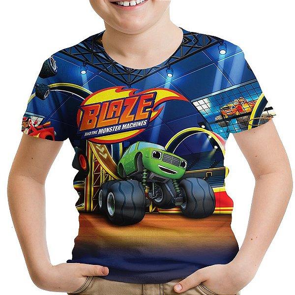 Camiseta Infantil Blaze And The Monster Machines