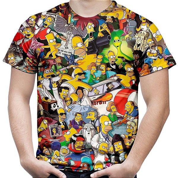 Camiseta Masculina Os Simpsons Estampa Digital Md02