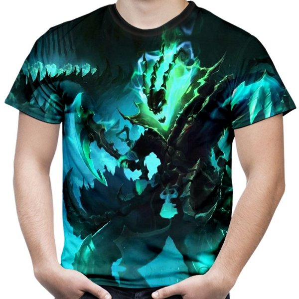 Camiseta Masculina Thresh Jogo League Of Legends Camisa Lol