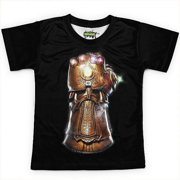 Camiseta Infantil Manopla do Infinito Vingadores