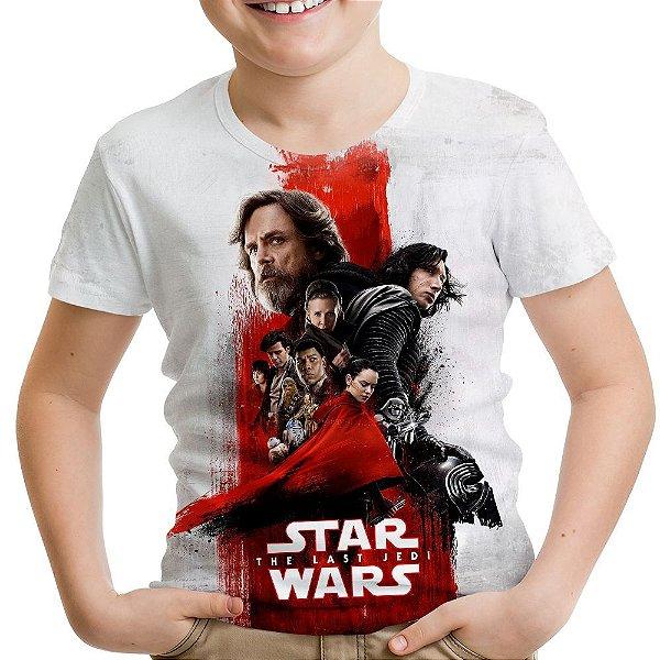 Camiseta Infantil Star Wars VIII 8 MD04