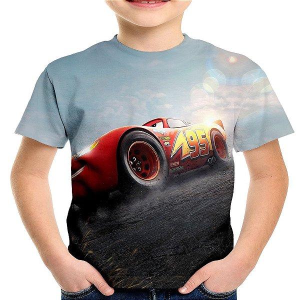 Camiseta Infantil Filme Carros 3 Relâmpago Mcqueen Md02