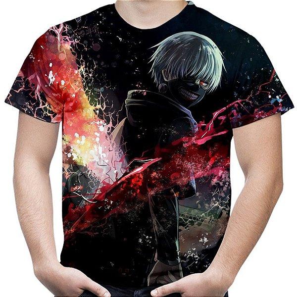 Camiseta Masculina Tokyo Ghoul Estampa Total MD01