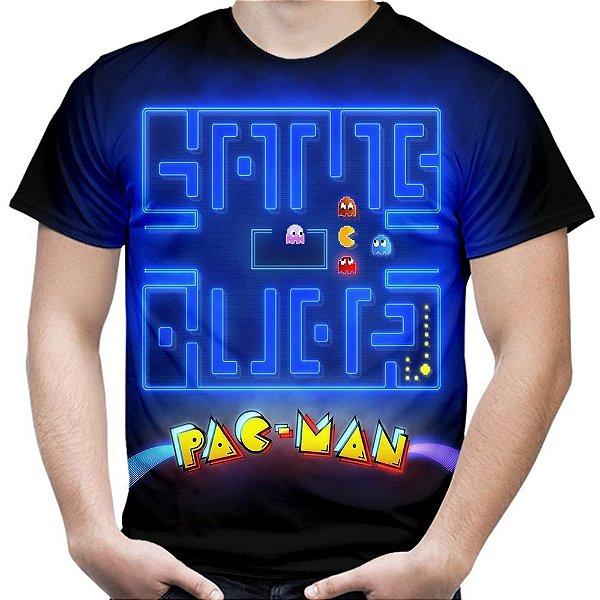 Camiseta Masculina Pac Man Estampa Total