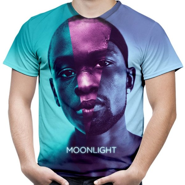 Camiseta Masculina Moonlight Sob a Luz do Luar Estampa Total