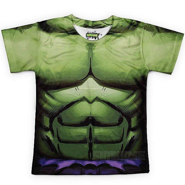 Camiseta Infantil Hulk Traje Estampa Total