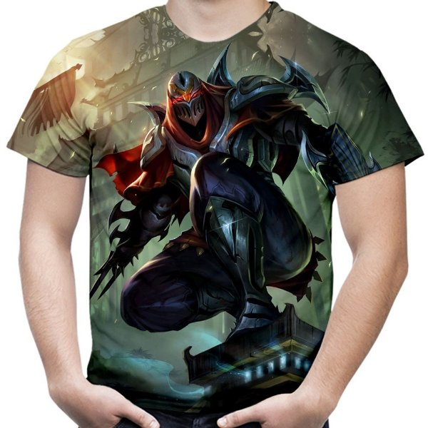 Camiseta Masculina Zed League of Legends Estampa Total Md01