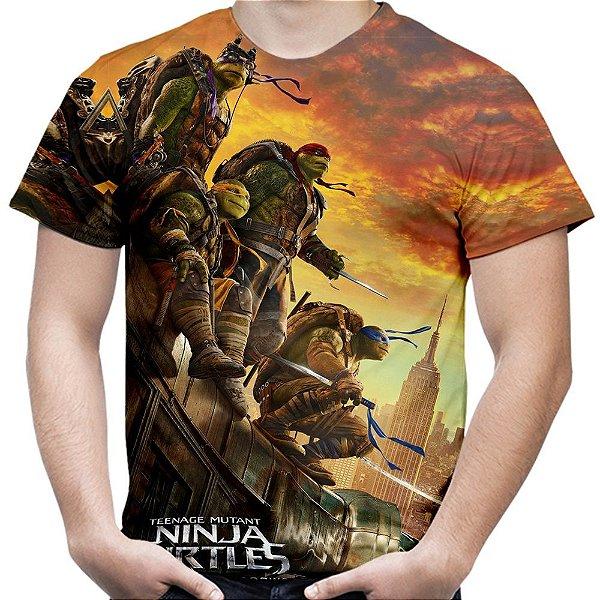 Camiseta Masculina Tartarugas Ninja Estampa Total Md02
