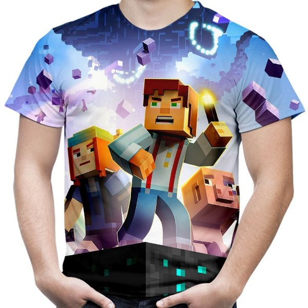 Camiseta Masculina Minecraft Estampa Total Md03